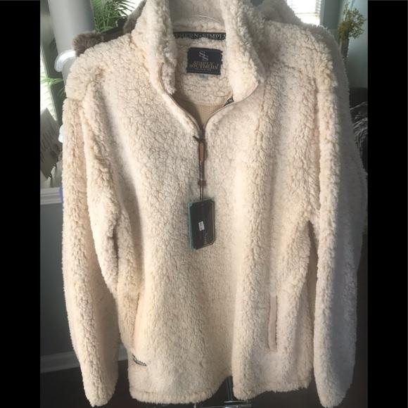 d7ed6e3c20 Simply Southern Jackets & Coats   Nwt Sherpa Tan Coat   Poshmark
